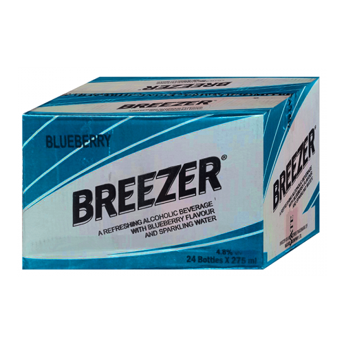 Bacardi Breezer Bueberry Case