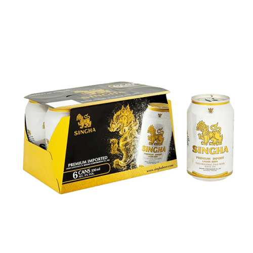 Singha Beer Can 6 Pack